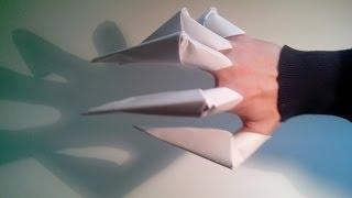 getlinkyoutube.com-Como hacer unas garras de papel (origami)