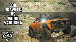 getlinkyoutube.com-GTA 5 - Coil Brawler VS Vapid Sandking Upstream test! (Off-Roading)
