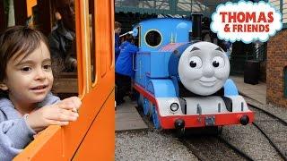 getlinkyoutube.com-THOMAS AND FRIENDS Train Rides / Thomas Land  /Family Amusement park