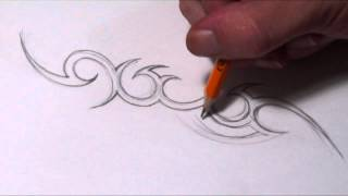getlinkyoutube.com-Drawing a Simple Tribal Name Tattoo Design