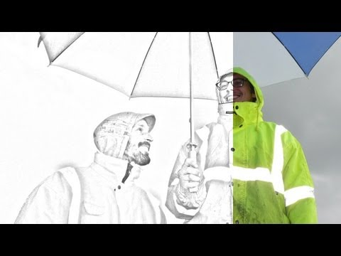 Photoshop Cs5 Tutorial: Photo to Line Drawing Effect!