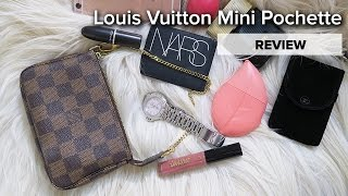 getlinkyoutube.com-Louis Vuitton Mini Pochette | REVIEW | HOW MUCH DOES IT HOLD