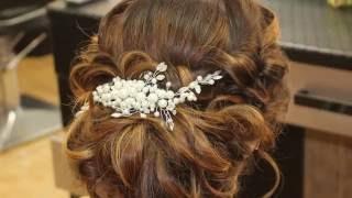 getlinkyoutube.com-Низкий пучок из локонов на основе валика. Видеоурок Loose wedding/prom updo Tutorial