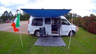 getlinkyoutube.com-DIY Van Awning for UNDER $50!  Check it OUT!