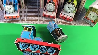 getlinkyoutube.com-Thomas and Friends Toy Trains Edward, Gordon, James, Henry, Tram Engine Toby