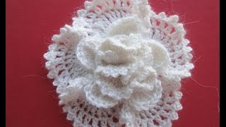 getlinkyoutube.com-Объёмный цветок The volumetric Flower Crochet