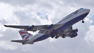 getlinkyoutube.com-outstanding go around on short final at Heathrow! British 747-400
