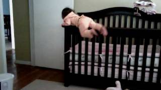 getlinkyoutube.com-Baby Alcatraz 2 (safety disclaimer: adult right out of shot to catch her if falling)