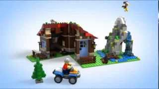 getlinkyoutube.com-Lego Creator   31025   Mountain Hut   Lego 3D Review