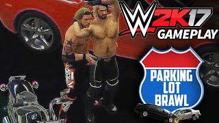 getlinkyoutube.com-WWE 2K17 - Parking Lot Brawl Match Gameplay Edge vs Seth Rollins [PS4 CONCEPT/IDEA]