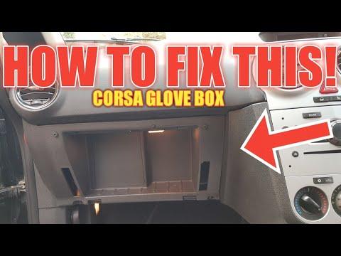 CORSA D GLOVE BOX REPAIR Pt1 FIX BROKEN GLOVE BOX LID EASLEY VAUXHALL OPEL HOW TO REPAIR GLOVE BOX