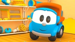 getlinkyoutube.com-Leo il camion curioso e l'aspirapolvere robot | Cartoni animati per bambini