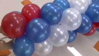 getlinkyoutube.com-Арка, Гирлянда из шаров на улице. Arch of balloons.