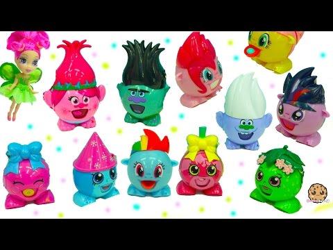 My Little Pony , Poppy and Branch Trolls, Shopkins Radz Round Candy Toys Video