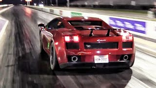 getlinkyoutube.com-Twin Turbo Lamborghini - Drag Racing