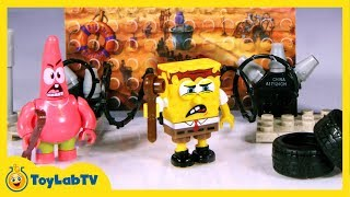 getlinkyoutube.com-SpongeBob Sponge Out of Water Toys, Mega Bloks Post Apocalyptic Pack, and Imaginext Action Figures
