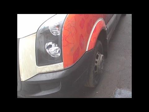 Volkswagen Crafter, Сборка. Крыло, фара, бампер, решетка #2
