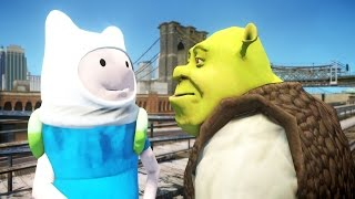 getlinkyoutube.com-SHREK VS FINN THE HUMAN