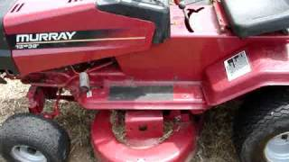 getlinkyoutube.com-Nice $10 Murray Tractor 12hp 38inch cut