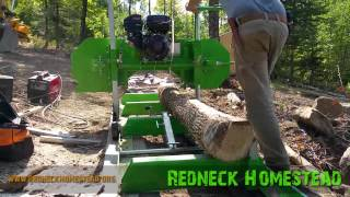 getlinkyoutube.com-Sawing Ash with the Harbor Freight Sawmill | Redneck Homestead