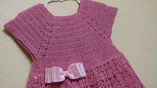 getlinkyoutube.com-Vestido Rosa Elegante Crochet parte 1 de 3