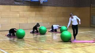 Gerincmobilizálás Fitball labdával