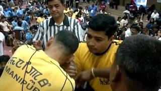 Laxman Singh Bhandari from Delhi Arm Wrestling