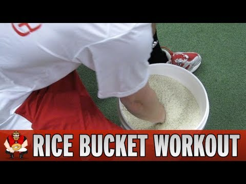 Catching 101 - Rice Bucket Workout for Baseball Catchers