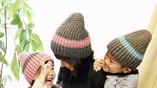 getlinkyoutube.com-ニット帽の編み方2016(かぎ針編み)