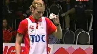 getlinkyoutube.com-Badminton 2003 - Sudirman Cup Semi Final - Camilla Martin vs. Kim Kyeung Ran 2nd Set