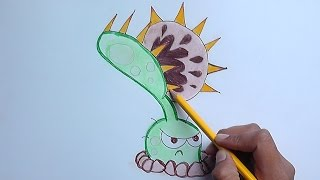 getlinkyoutube.com-Dibujar a Venus Atrapamoscas (Plantas vs Zombies) - Draw Venus Flytrap
