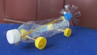 getlinkyoutube.com-Как сделать резинкой двигателем автомобиля | Повторное пластиковую бутылку