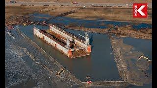 getlinkyoutube.com-KOOLE - Salvage of 6,000 ton drydock