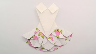 getlinkyoutube.com-Origami dress /พับชุดกระโปรง