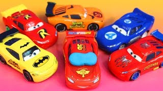 getlinkyoutube.com-Disney Pixar Cars Lighnting McQueen dreams helping Sally Batman Robin Spider-Man Toy story Imaginext