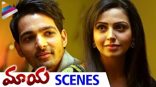 getlinkyoutube.com-Love Making Scene | Nandini Rai & Harshvardhan Rane | Romantic Scene of The Day | Maaya Telugu Movie