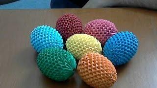 getlinkyoutube.com-How to make  3d origami Easter egg