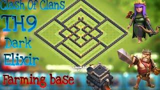 getlinkyoutube.com-Clash Of Clans-TH9 Dark elixir Funnel Base/Master Base