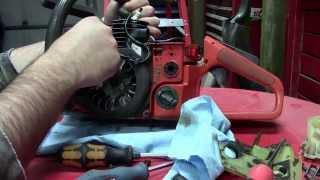getlinkyoutube.com-Husqvarna 55 Chainsaw Repairs Part 1 of 2