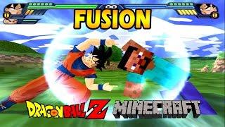 getlinkyoutube.com-Minecraft Steve and Goku Fusion | Minecraft Fusion Dragon Ball | DBZ Tenkaichi 3 (MOD)