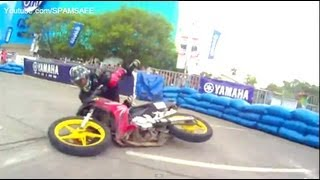 getlinkyoutube.com-Yamaha GP Bloopers Drifting Racing 135LC Crypton X Sniper Jupiter Mx x1r scooterthon