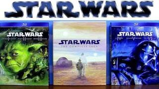 getlinkyoutube.com-Star Wars blu ray Trilogy Prequel and Complete Saga uboxing review comparison