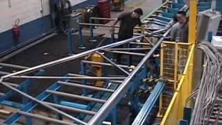 getlinkyoutube.com-AUTOMATED Cold Formed Light Gauge Steel Truss Fabrication Line in direct CAD design control