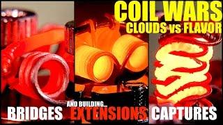 getlinkyoutube.com-COIL WARS | Clouds VS Flavor | How to Build Extension, Bridge, and Capture Coils