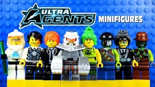 getlinkyoutube.com-LEGO Ultra Agents KnockOff Minifigures w/ Max Burns Jack Fury Toxikita & Tremor