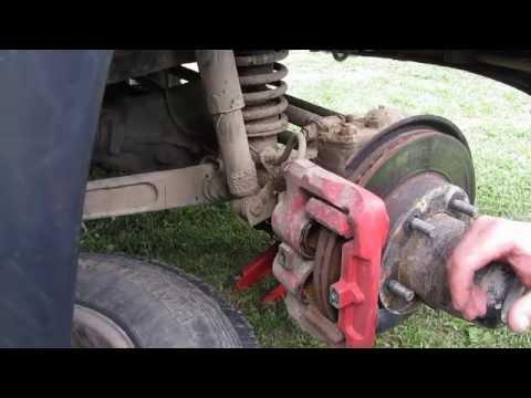 Расположение в УАЗ Буханка задних тормозных дисков