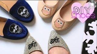 getlinkyoutube.com-Last Minute Gift DIY Shoes| Monogram/Skull/Owl