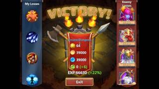 getlinkyoutube.com-Castle Clash Insane 3-6 // 3 FLAMES WITH ONLY 4 F2P HEROES