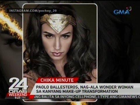 Paolo Ballesteros, nag-ala Wonder Woman sa kanyang make-up transformation