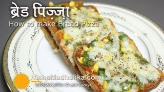 getlinkyoutube.com-Bread Pizza Recipe -   Quick Bread Pizza Recipe
